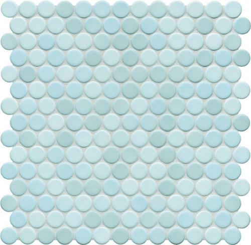 Jasba Loop Mosaik aquablau hell glänzend 31x32 cm