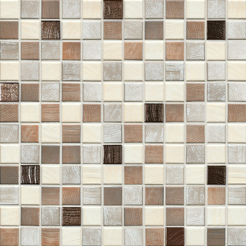 Jasba Senja Pure Mosaik wood-mix metallic 32x32 cm