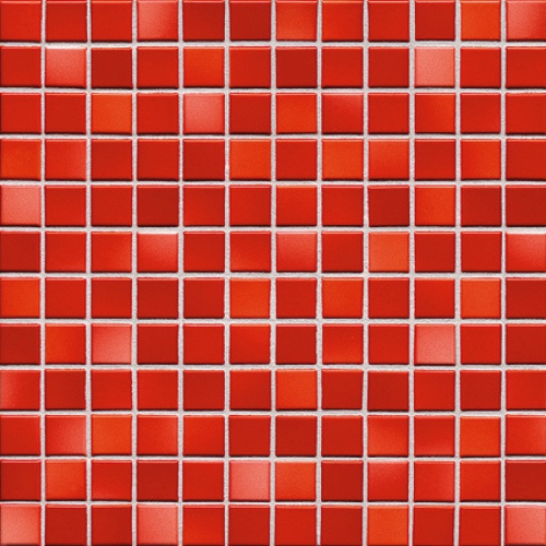 Jasba Fresh Mosaik coral red-mix glänzend 32x32 cm