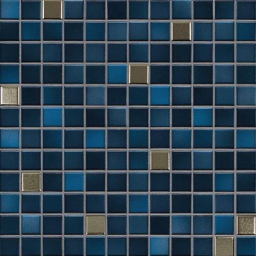Jasba Fresh Mosaik midnight blue-mix metallic glänzend 32x32 cm