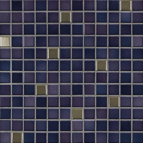 Jasba Fresh Mosaik vivid violet-mix metallic glänzend 32x32 cm