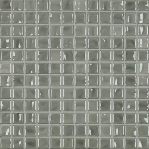 Jasba Amano Mosaik mittelgrau glänzend 32x32 cm