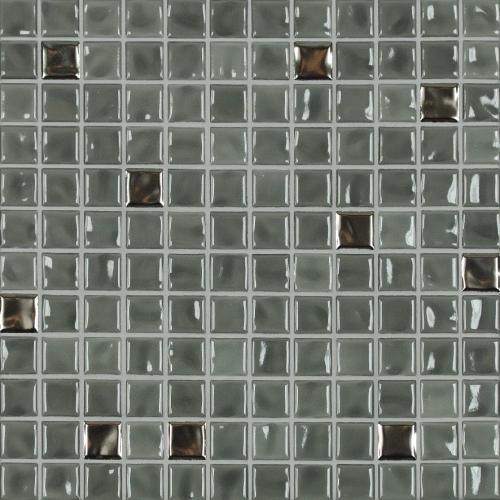 Jasba Amano Mosaik mittelgrau-metallic-mix glänzend 32x32 cm