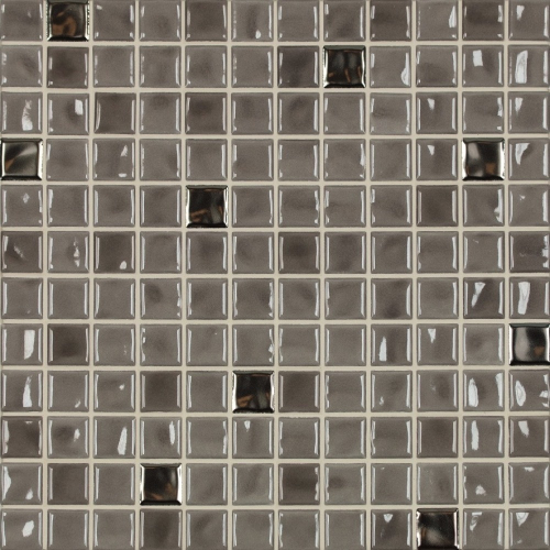 Jasba Amano Mosaik taupe-metallic-mix glänzend 32x32 cm