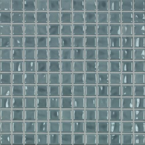 Jasba Amano Mosaik seidenblau glänzend 32x32 cm