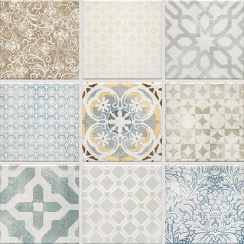 Jasba Pattern Mosaik Vola Natur-mix 30x30 cm