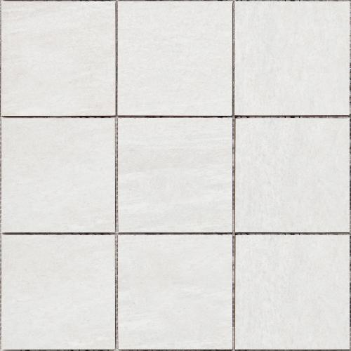 Bärwolf Stone Keramikmosaik quarzite white natur 30x30 cm