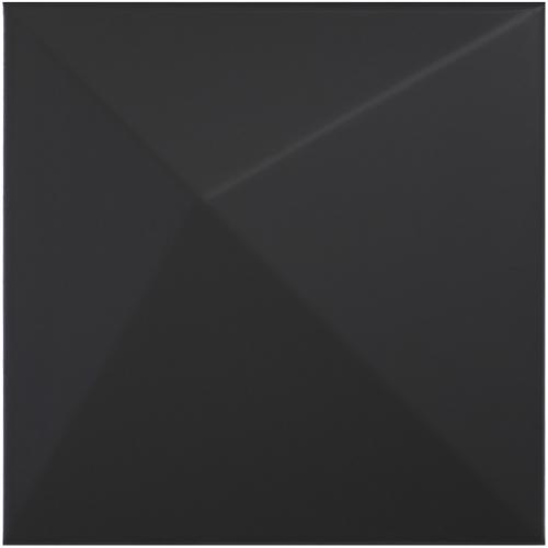 Dune ceramics Kioto Black Wandfliese schwarz matt 25x25 cm