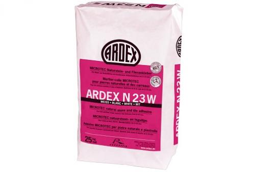 ARDEX N 23 W MICROTEC Naturstein- und Fliesenkleber weiß 25 kg Sack