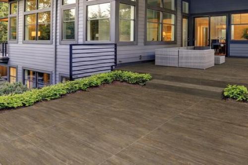 Terrassenplatten Arte Casa Livorno Outdoor braun 45x90x2 cm Holzoptik matt R11