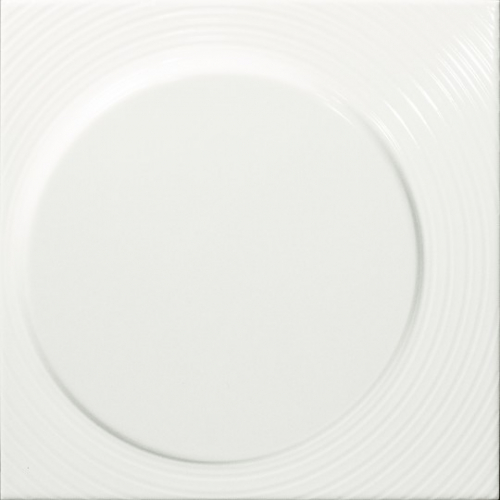 Dune ceramics Luna White  Wandfliese weiß matt 25x25 cm