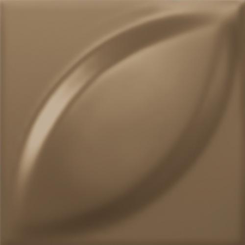 Dune ceramics Mandorla Bronzo Wandfliese braun seidenmatt 25x25 cm
