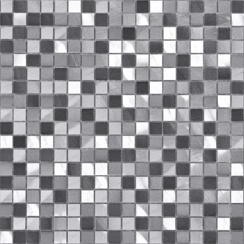Bärwolf Pixel Kombimosaik graphit mix natur 30x30 cm