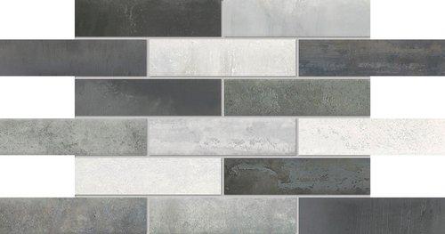 Agrob Buchtal Lunar Dekor weiß-grau-mix matt 7,5x30 cm