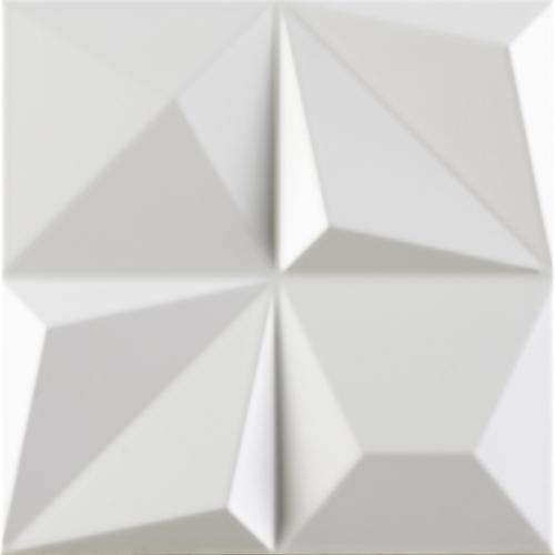 Dune ceramics Multishapes White Wandfliese weiß matt 25x25 cm