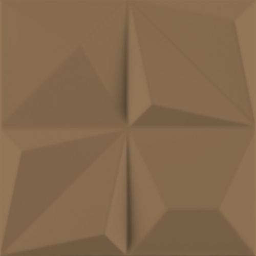 Dune ceramics Kioto Bronzo Wandfliese braun seidenmatt 25x25 cm