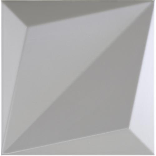 Dune ceramics Origami Smoke Wandfliese grau matt 25x25 cm