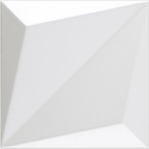 Dune ceramics Origami White Wandfliese weiß matt 25x25 cm