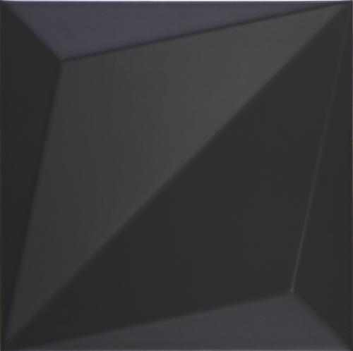 Dune ceramics Origami Black Wandfliese schwarz matt 25x25 cm