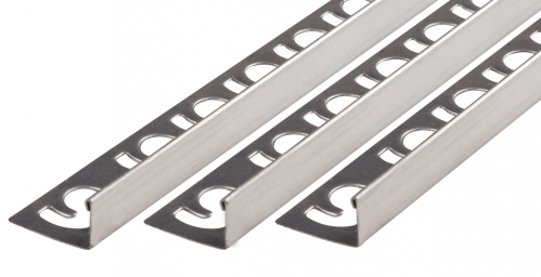 Winkelprofil V2A Edelstahl gebürstet Höhe: 6,0 mm / Länge: 300,0 cm