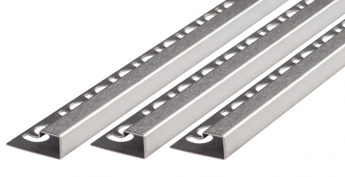 Quadratprofil V2A Edelstahl gebürstet Höhe: 11,0 mm / Länge: 300,0 cm