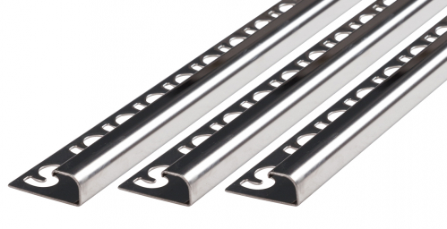 Rundprofil V2A Edelstahl glänzend Höhe: 11,0 mm / Länge: 300,0 cm