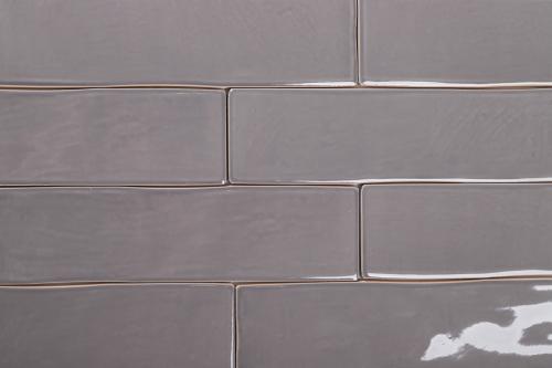 Arte Casa Bronx Wandfliese gris glänzend 7,5x30 cm