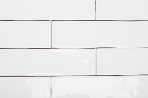 Wandfliesen Sonderposten Loft blanco glänzend 7,5x30 cm