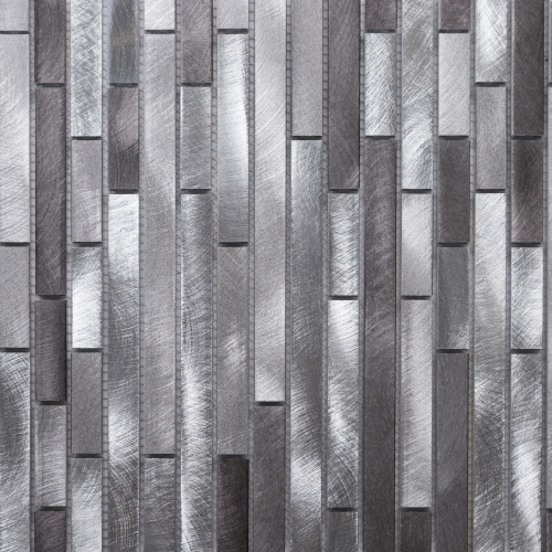 Arte Casa Stripes Mosaik 30x30 brushed silver-grey-graphit mix