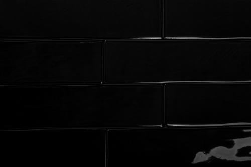 Wandfliesen Sonderposten Loft negro glänzend 7,5x30 cm