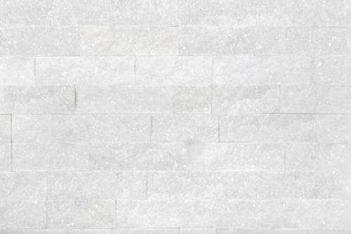 Brickstone 15x60cm weiß matt Naturstein Quarzit Wandverblender