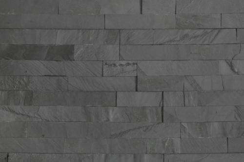 Brickstone 15x60cm schwarz matt Naturstein Wandverblender