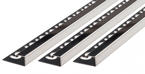 Quadratprofil V2A Edelstahl glänzend Höhe: 10,0 mm / Länge: 300,0 cm