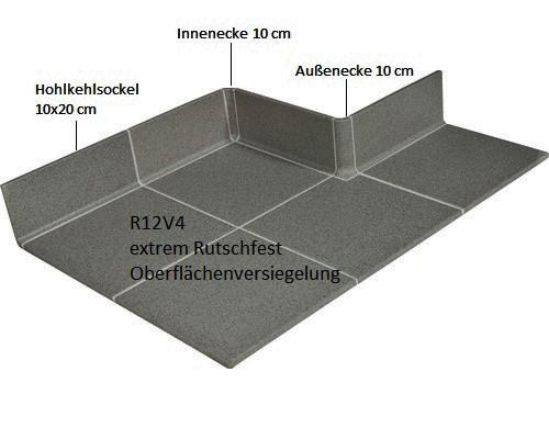 Bodenfliese Gastronomie anthrazit 20x20 gewerblich Feinkorn R12V4 EXTRA STARK