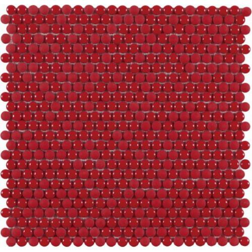 Dune vitra Dots red Mosaik rot glänzend/matt 28x28 cm