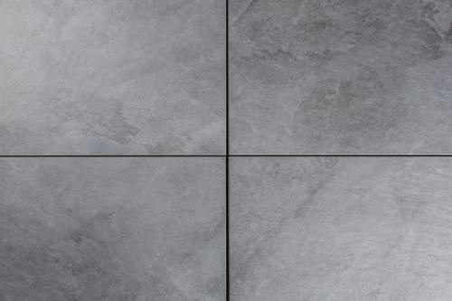 Terrassenplatten Sonderposten Rocky Outdoor anthrazit 60x60x2cm Schieferoptik matt R11
