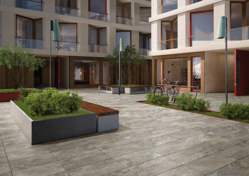 Terrassenplatten Villeroy & Boch My Earth grau multicolour 40x80x2 cm Outdoor Schieferoptik matt