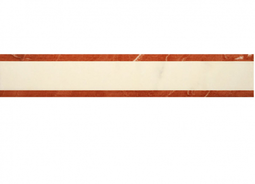 Villeroy & Boch New Tradition Bordüre crema-rosso glänzend 5x30 cm