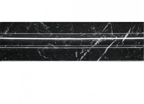 Villeroy & Boch New Tradition Bordüre nero glänzend 7x30 cm