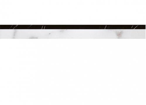 Villeroy & Boch New Tradition Bordüre bianco-nero glänzend 5x30 cm