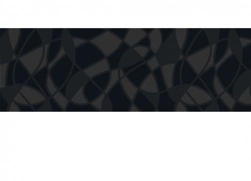 Villeroy & Boch BiancoNero Dekor Grafity schwarz glänzend 30x90 cm