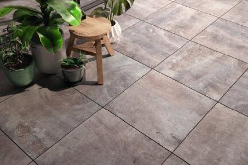 Terrassenplatten Villeroy & Boch Cadiz Outdoor 2807 BU7M grey multicolour matt 40x80x2 cm Kalksteinoptik
