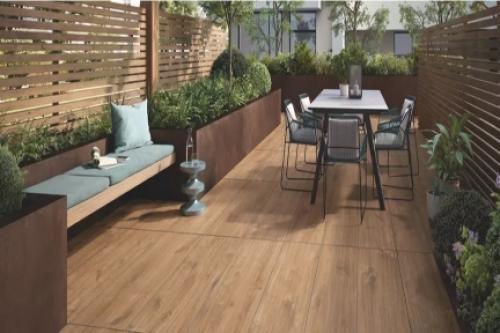 Terrassenplatten Villeroy & Boch Oak Park brandy 40x120x2 cm Outdoor Holzoptik matt MS.