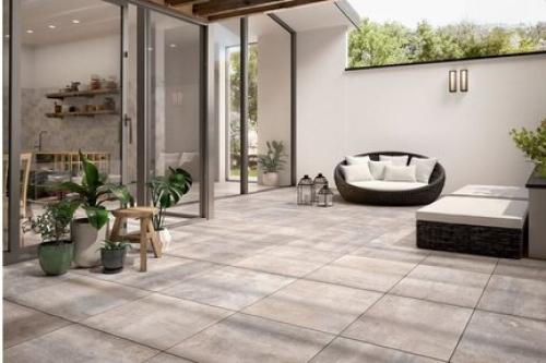 Terrassenplatten Villeroy & Boch Cadiz Outdoor 2807 BU1M chalk multicolour matt 40x80x2 cm Kalksteinoptik