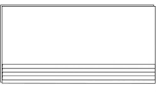 Villeroy & Bovch Unit Four Treppenauftritt creme matt 30x60 cm