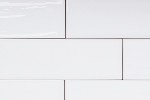 Wandfliesen Sonderposten Artisan blanco glänzend 10x20 cm Metrofliesen