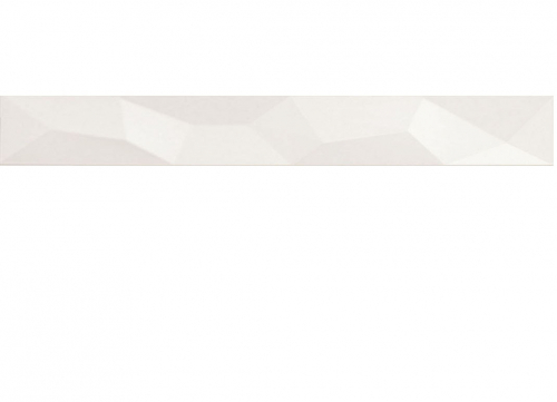 Villeroy & Boch BiancoNero Bordüre Kristall weiß glänzend 10x60 cm