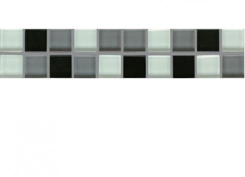 Villeroy & Boch Smart Bordüre schwarz glänzend 5x25 cm
