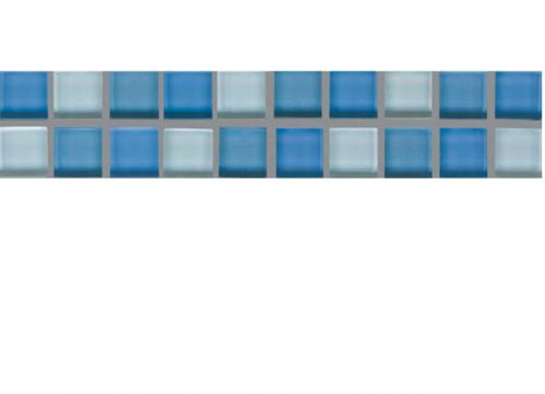 Villeroy & Boch Smart Bordüre mittelblau glänzend 5x25 cm