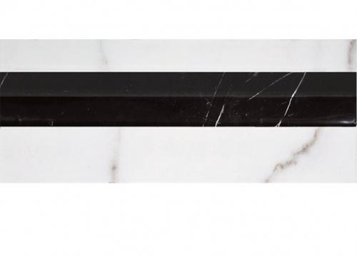 Villeroy & Boch New Tradition Bordüre  bianco-nero 3x30 cm